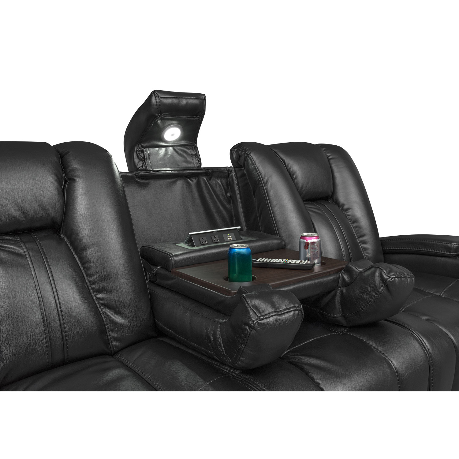 Click to change image.  sc 1 st  Value City Furniture & Pulsar Dual Power Reclining Sofa - Black | Value City Furniture islam-shia.org
