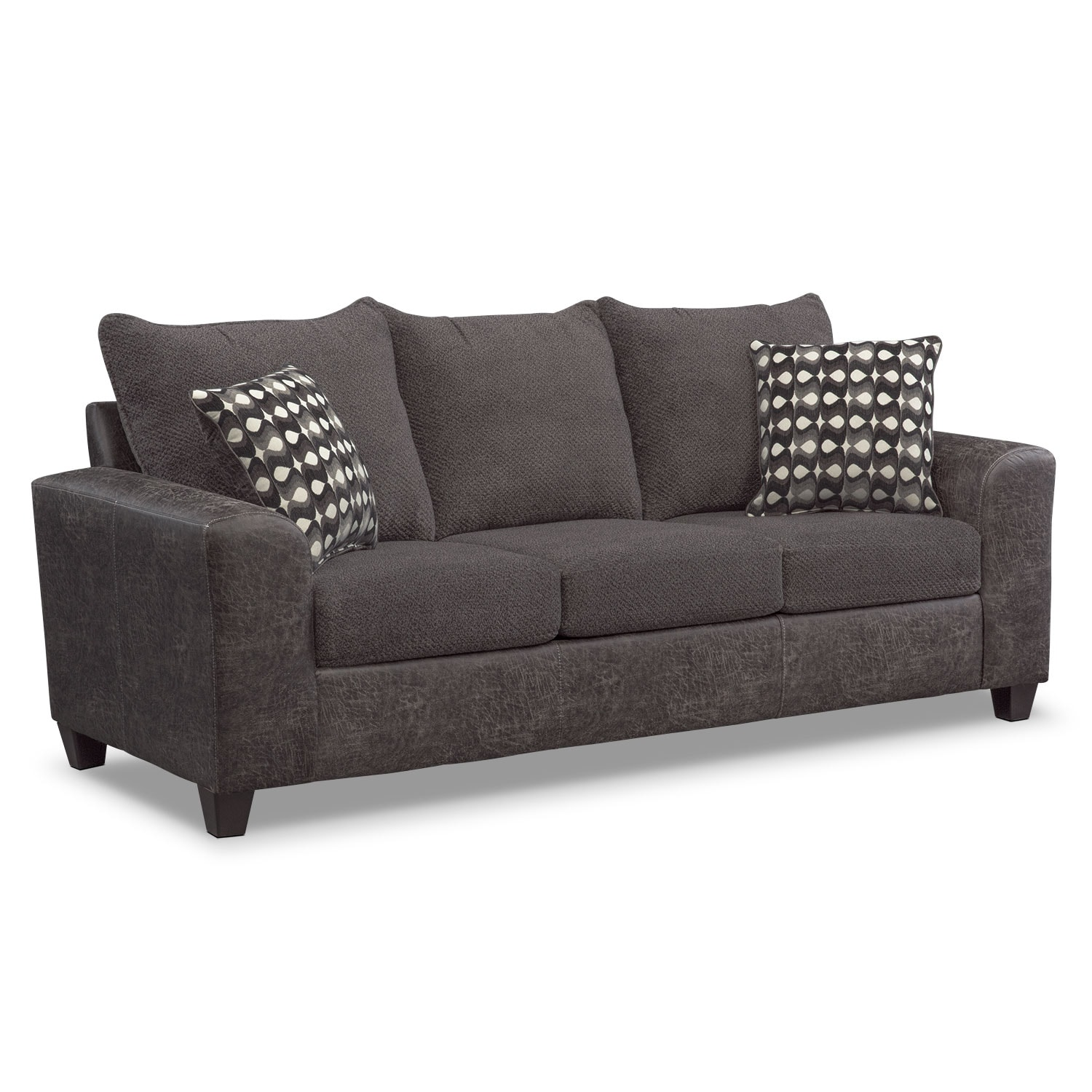 Living Room Sets Value City Furniture brando sofa - smoke | value city furniture