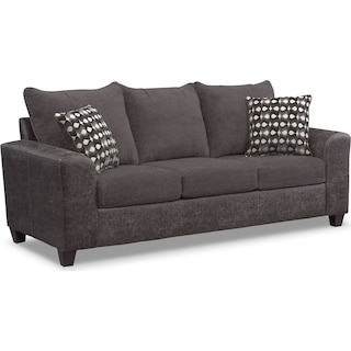 Brando Queen Memory Foam Sleeper Sofa - Smoke