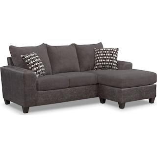Brando Sofa With Chaise Smoke