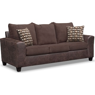 Brando Queen Innserspring Sleeper Sofa - Chocolate