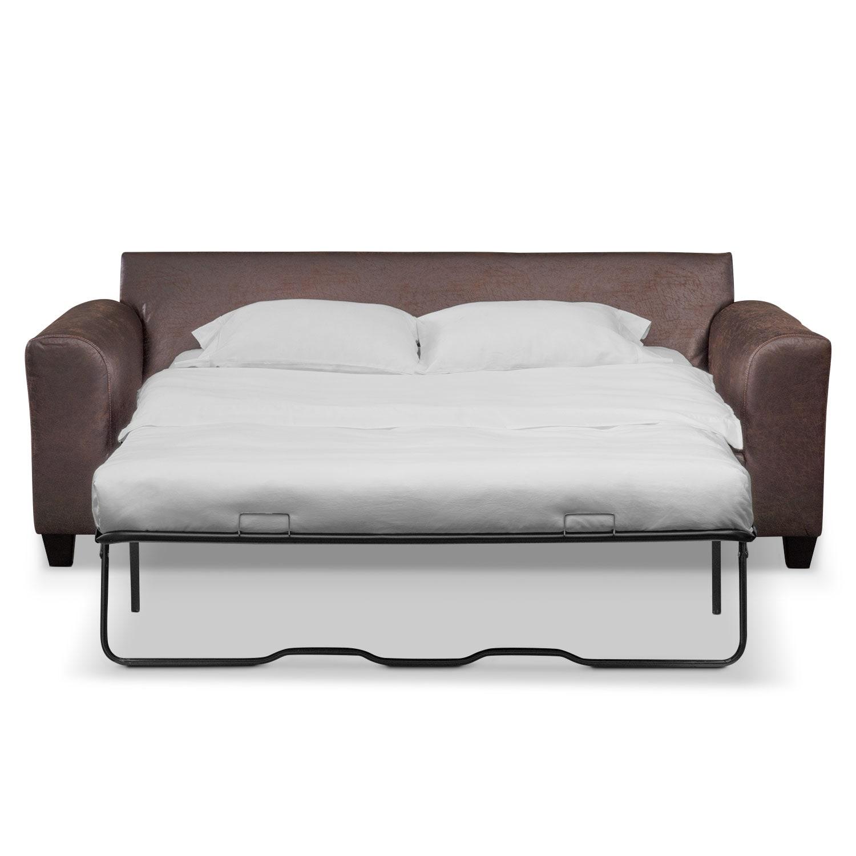 Brando Queen Memory Foam Sleeper Sofa And Loveseat Set