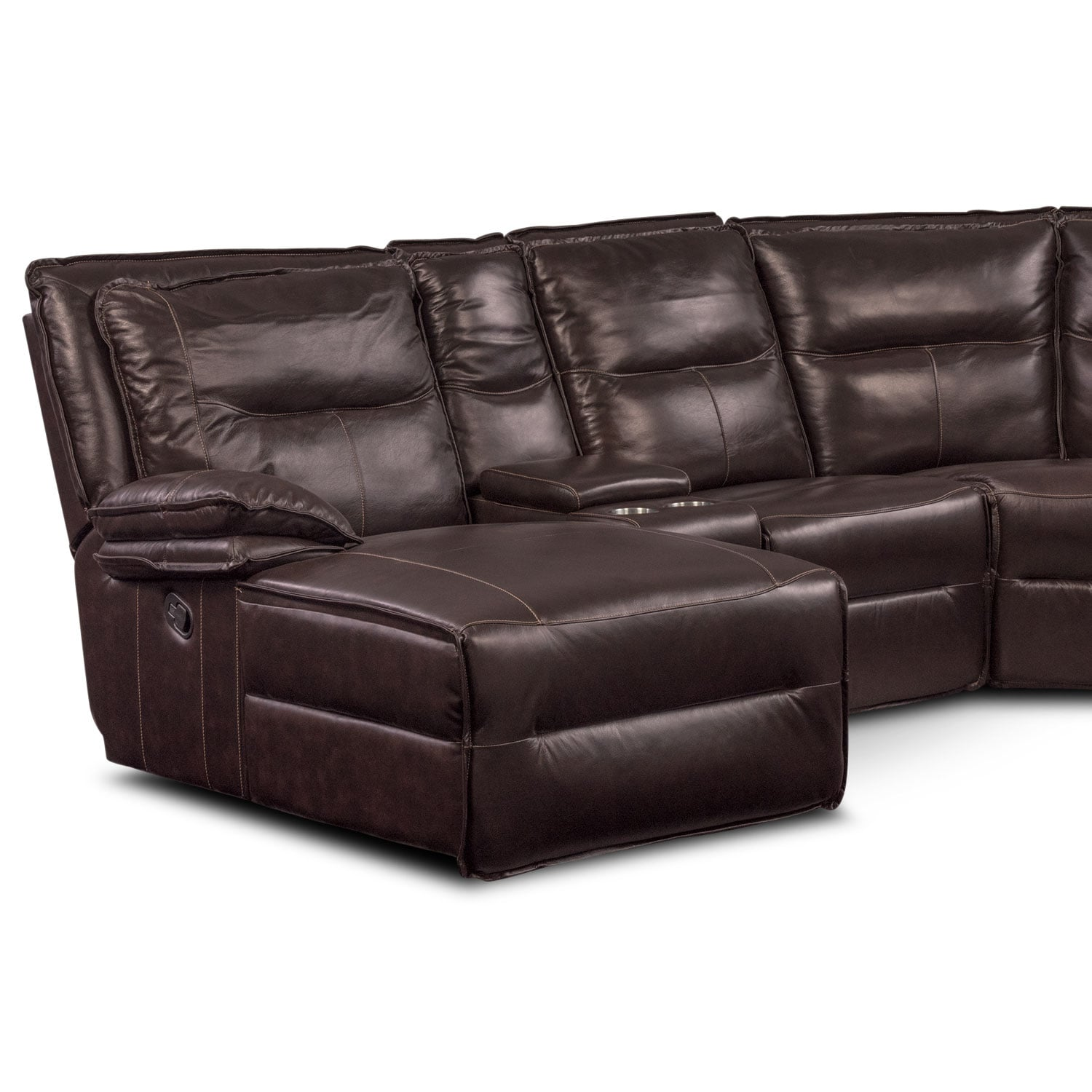 Nikki 6 Piece Power Reclining Sectional with 1 Recliner and Left