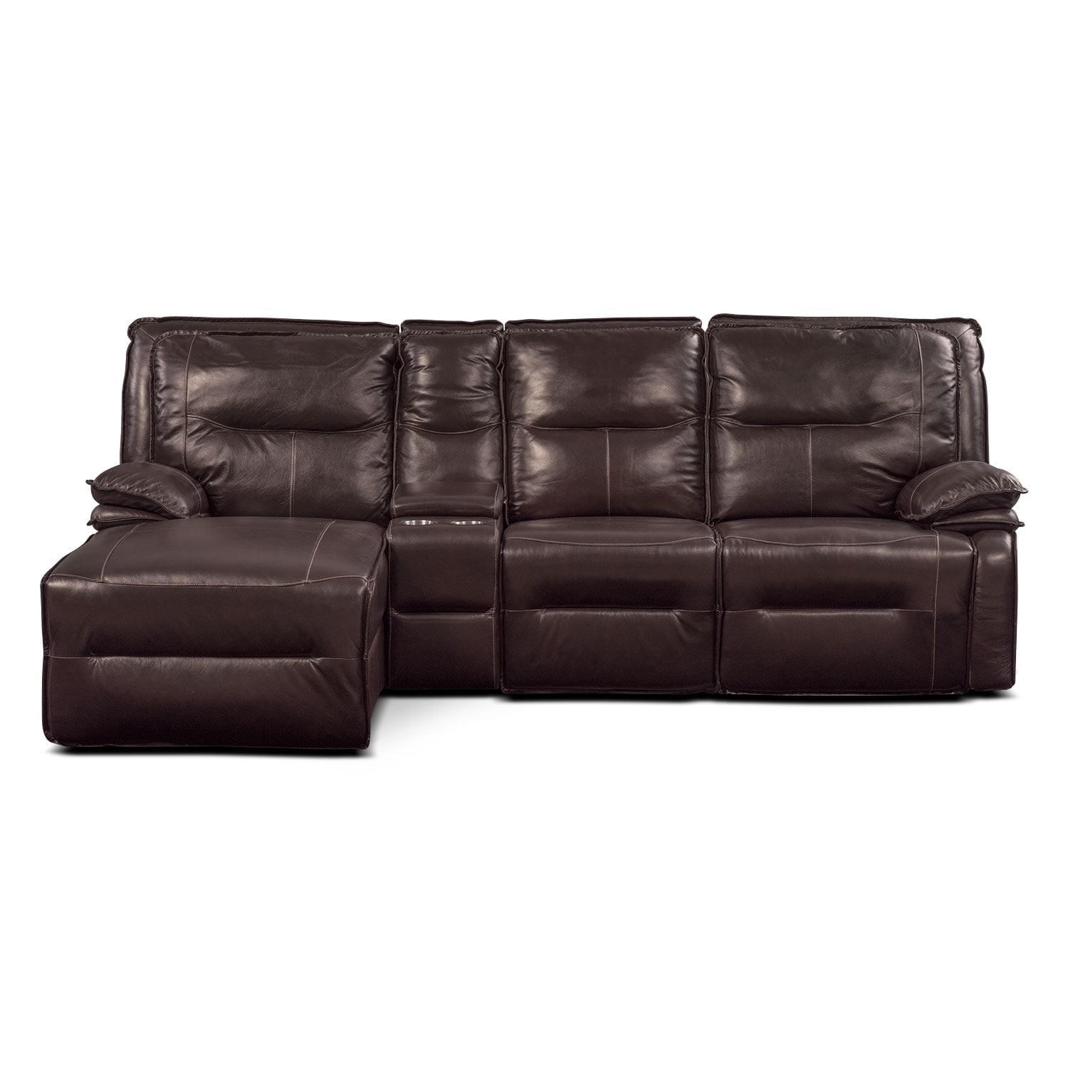 Nikki 4 Piece Power Reclining Sectional with Left Facing Chaise