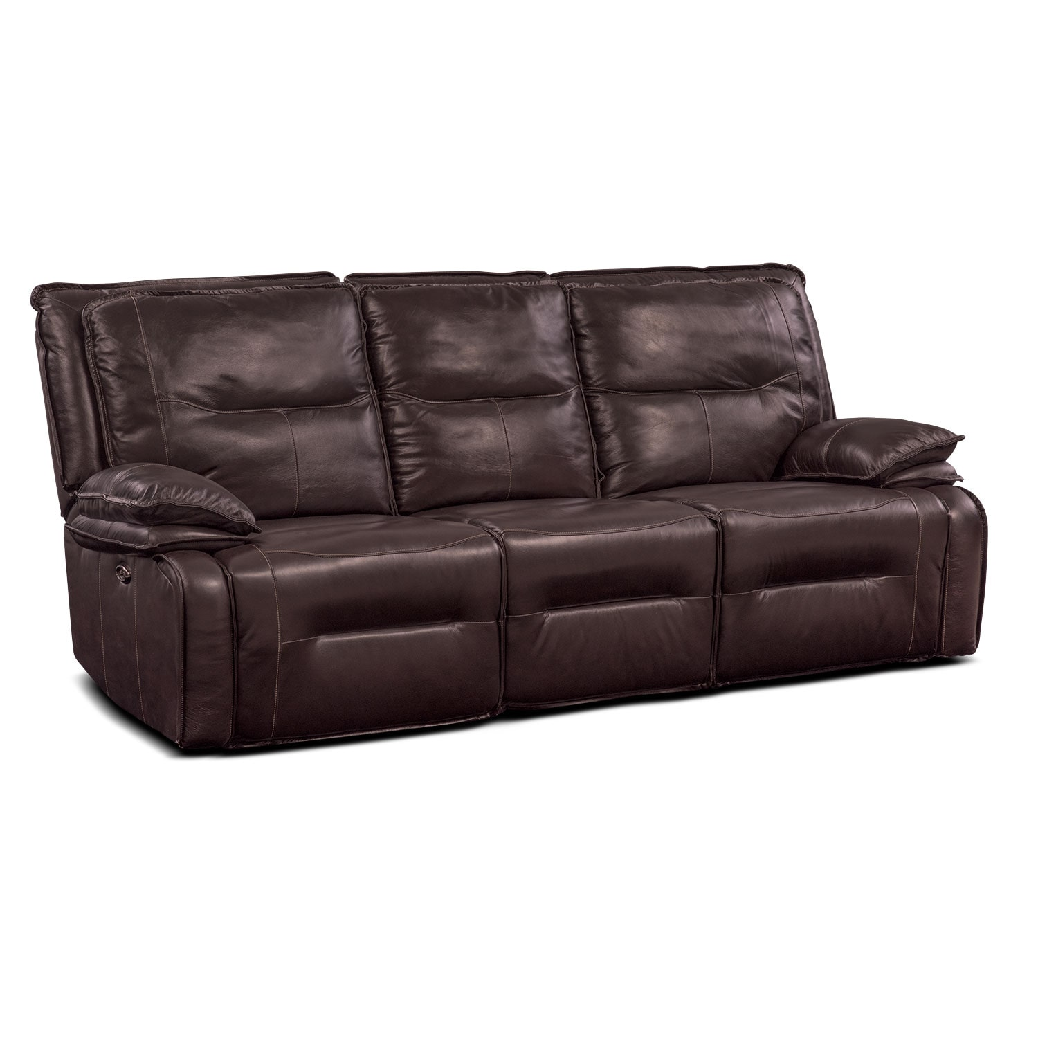 Living Room Furniture - Nikki 3-Piece Power Reclining Sectional with 3 Recliners - Brown