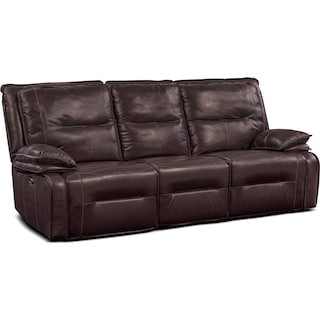 Nikki 3-Piece Power Reclining Sectional with 2 Recliners - Brown