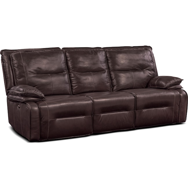 Living Room Furniture - Nikki 3-Piece Power Reclining Sectional with 2 Recliners - Brown