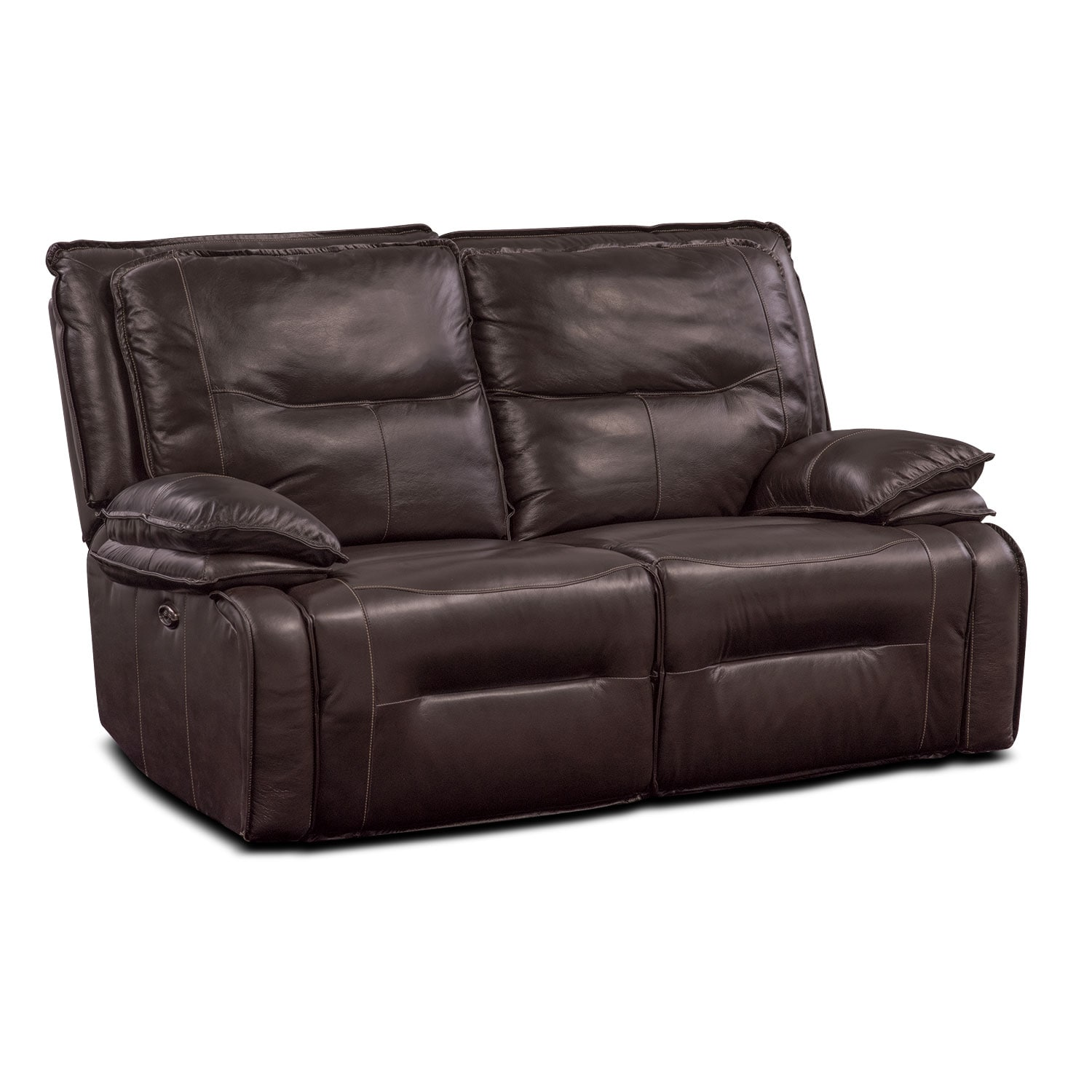 Living Room Furniture - Nikki 2-Piece Power Reclining Sectional - Brown