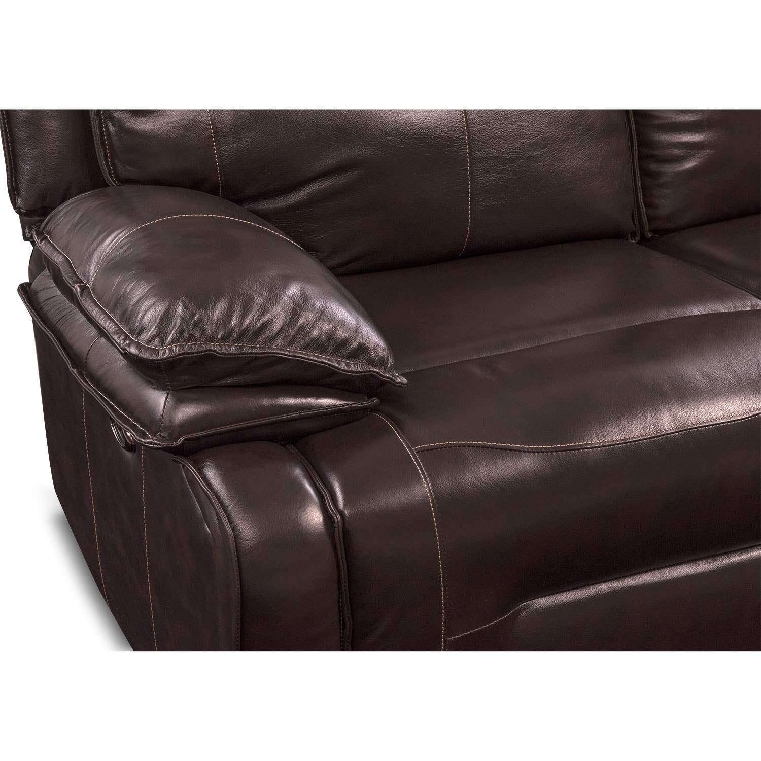 Nikki 6 Piece Power Reclining Sectional with 3 Recliners Brown