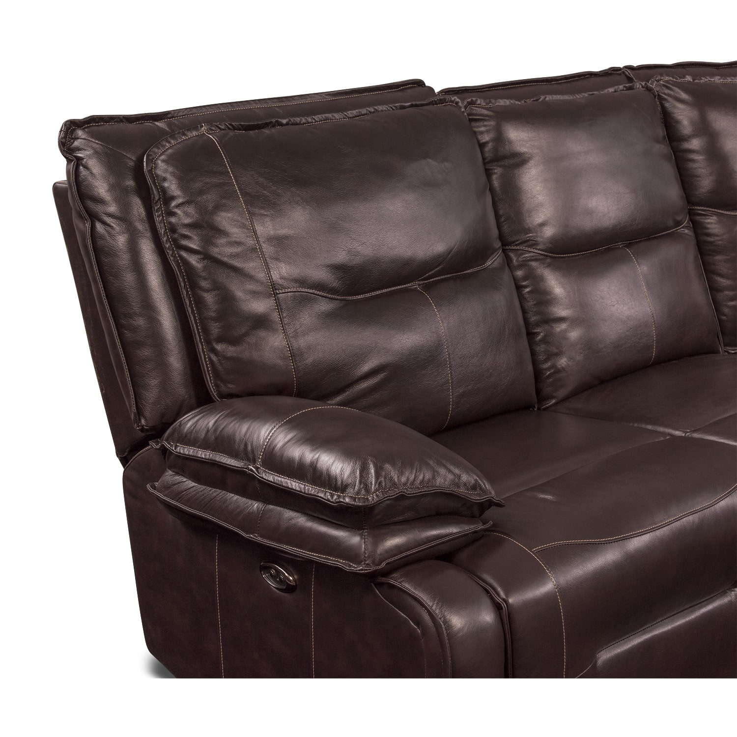 Click to change image.  sc 1 st  Value City Furniture & Nikki 6-Piece Power Reclining Sectional with 3 Recliners - Brown ... islam-shia.org