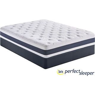 Shadow Falls Plush Queen Mattress and Split Foundation Set