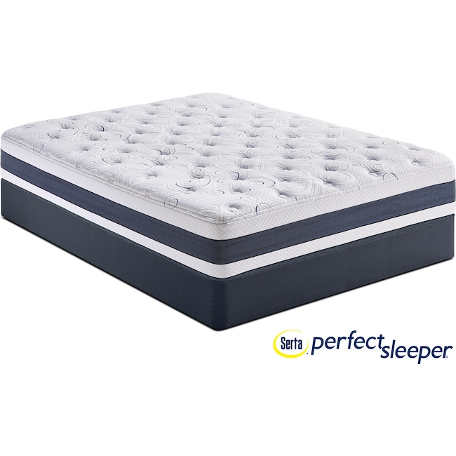 Mattresses and Bedding - Shadow Falls Plush Queen Mattress and Low-Profile Foundation Set