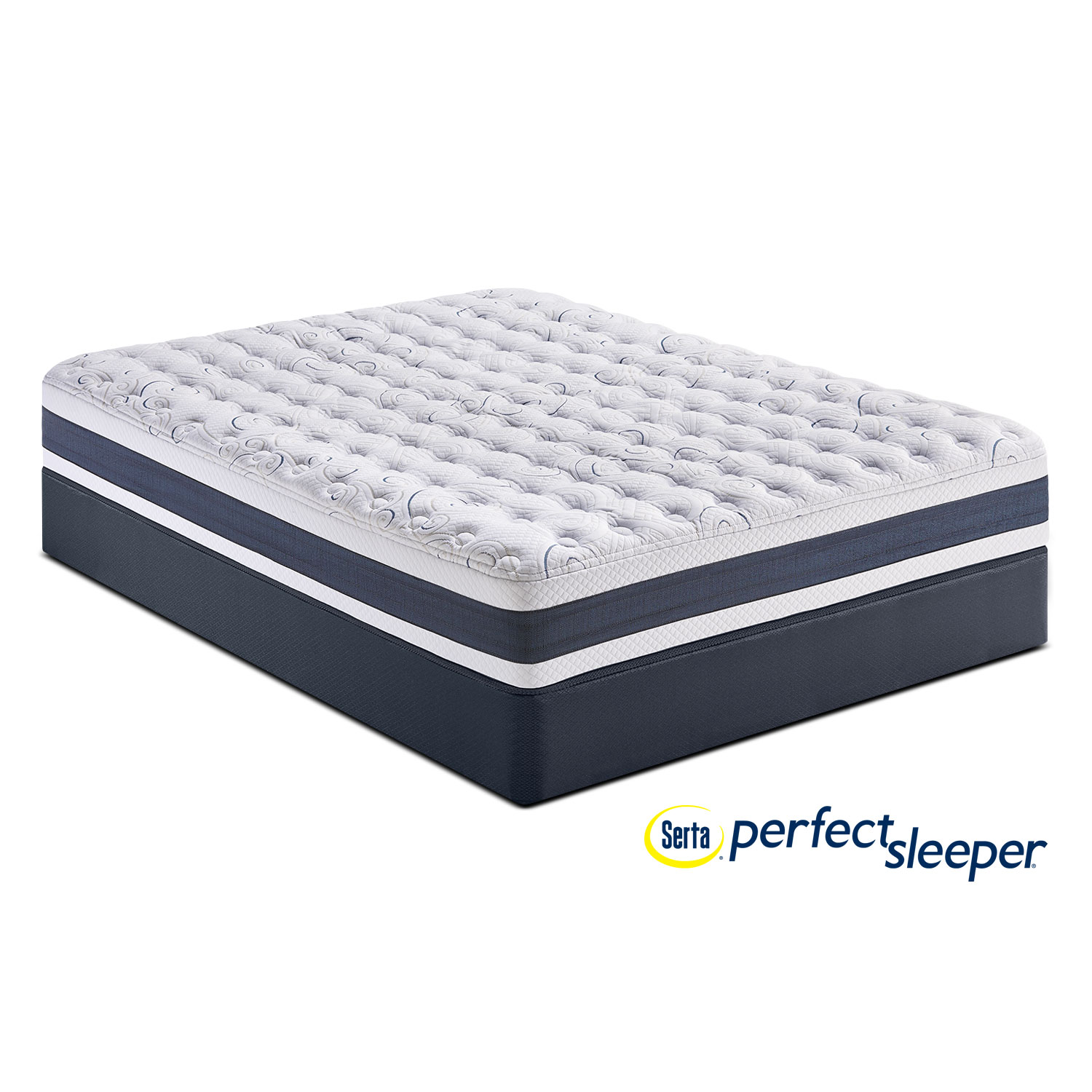 Mattresses and Bedding - Perfect Sleeper Strathfield Firm Twin XL Mattress and Low-Profile Foundation Set