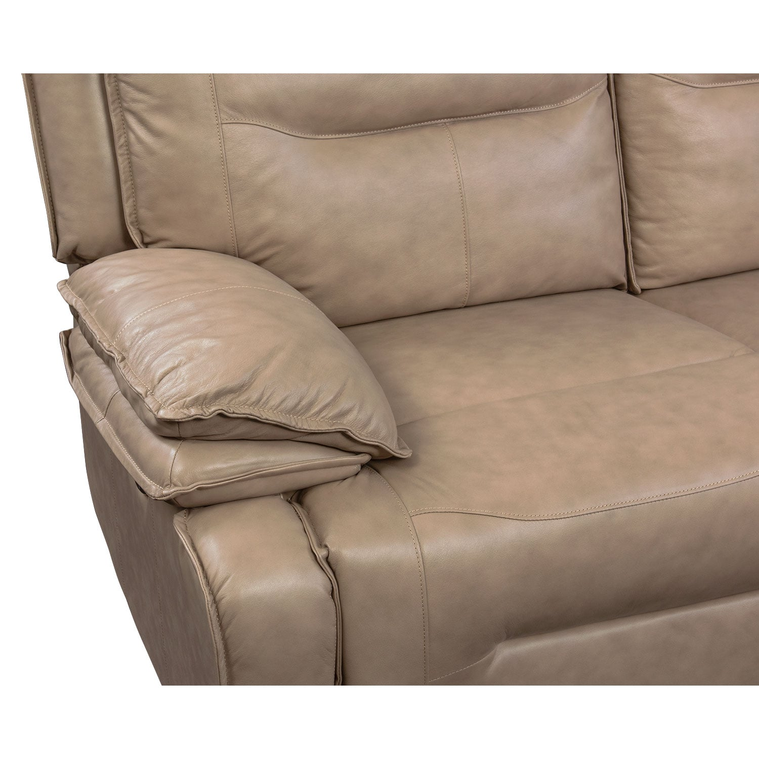 Nikki 6 Piece Power Reclining Sectional with 3 Recliners Taupe