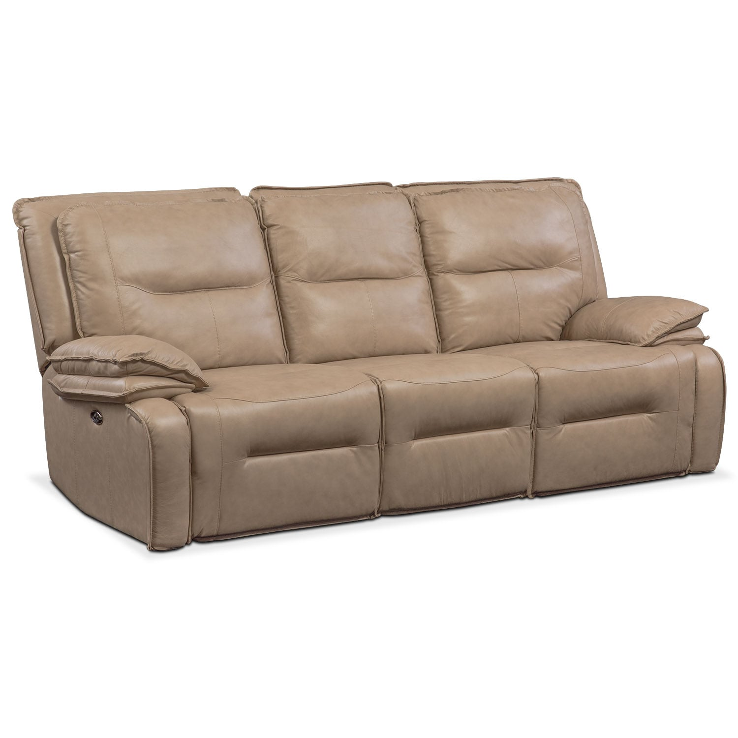 Nikki 3-Piece Power Reclining Sectional with 2 Recliners - Taupe