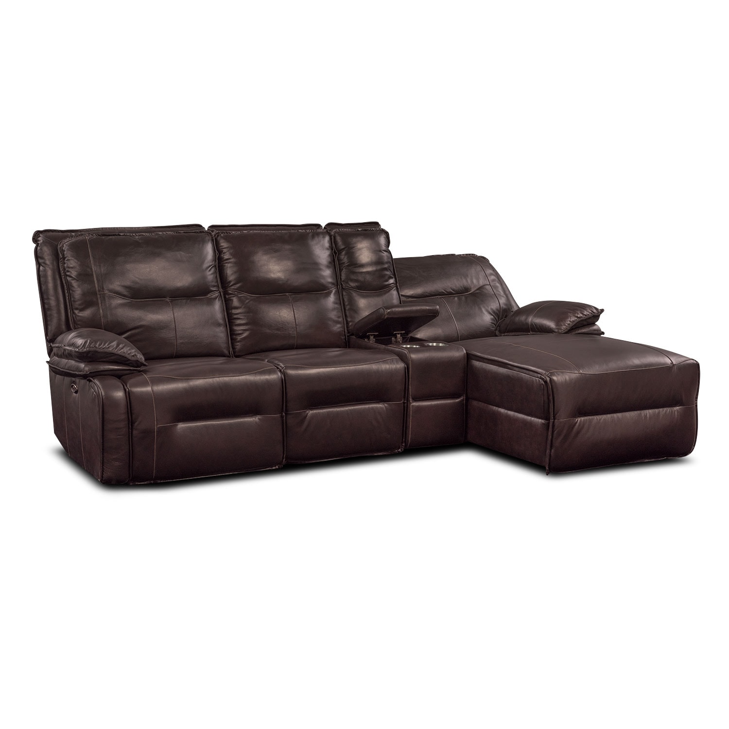 Nikki 4 Piece Power Reclining Sectional with Right Facing Chaise
