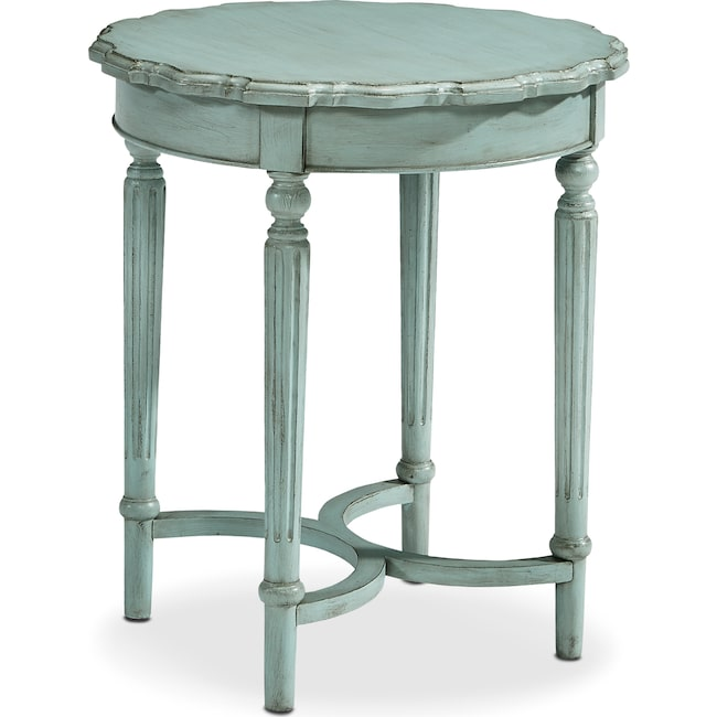 Accent and Occasional Furniture - French Pie Crust Tall Table - French Blue