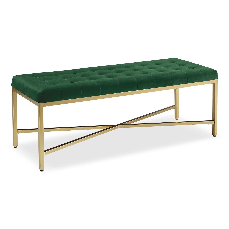Dapper Linear Bench - Emerald