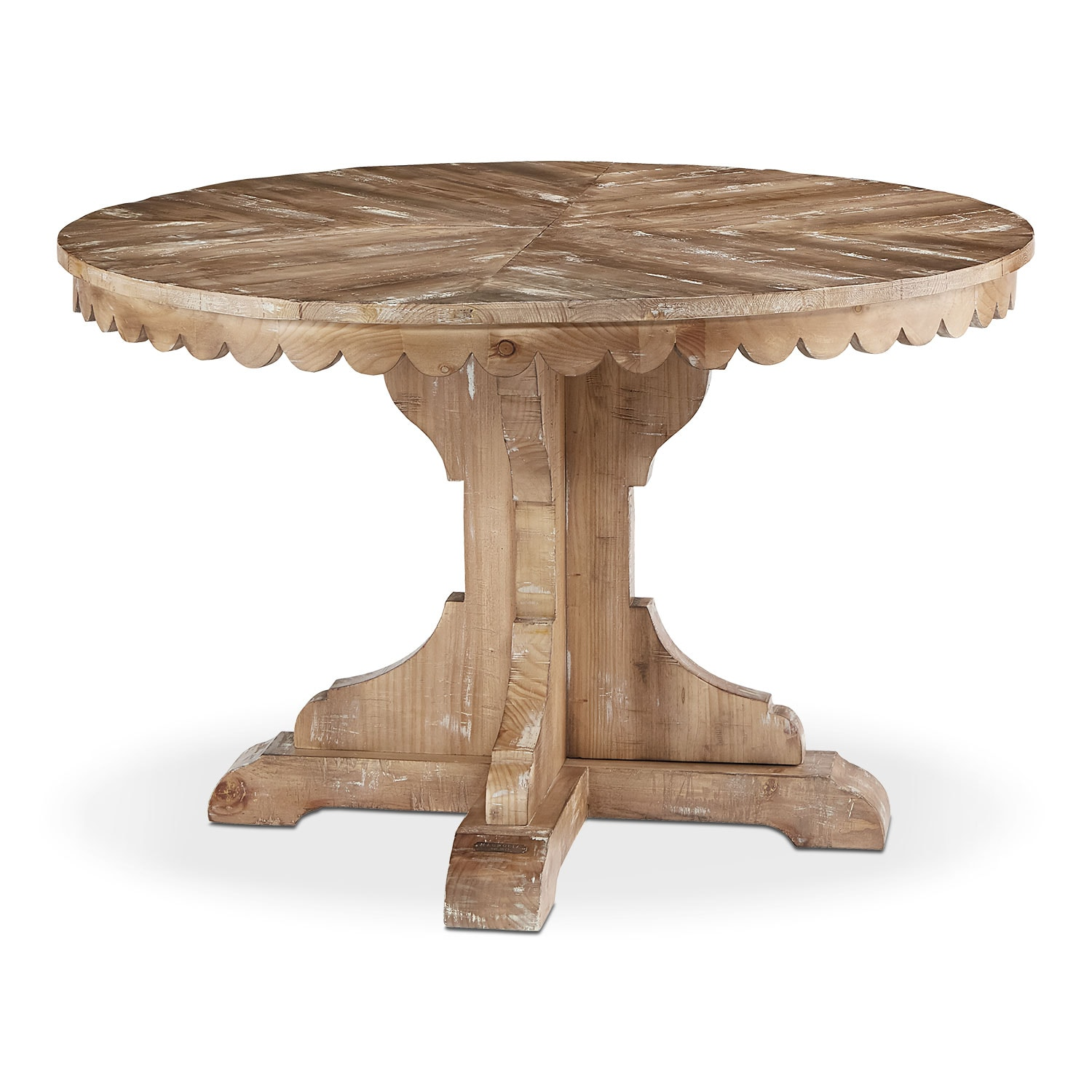 Farmhouse Top Tier Pedestal Table