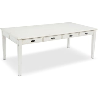 7' Farmhouse Keeping Table - Antique White