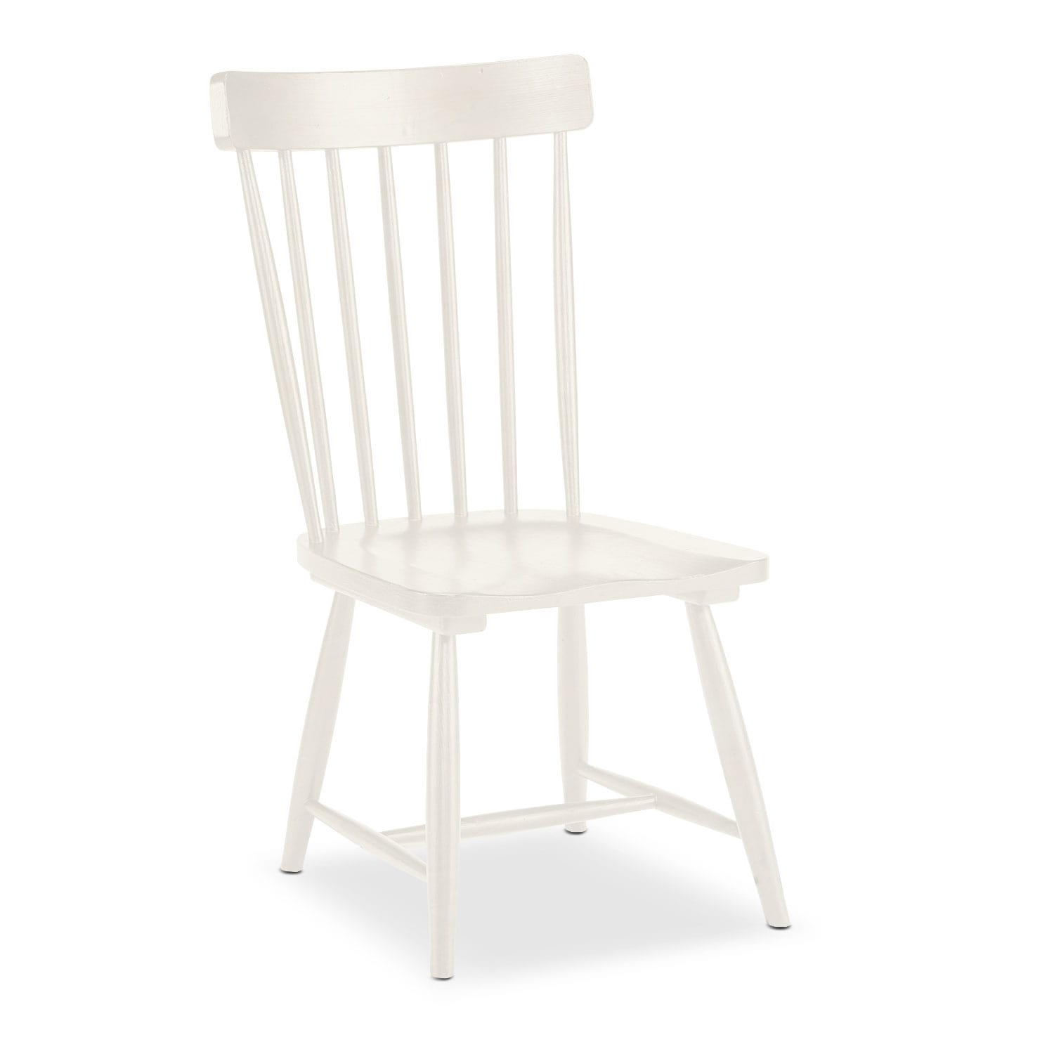 Dining Room Furniture - Farmhouse Spindle Back Side Chair - White