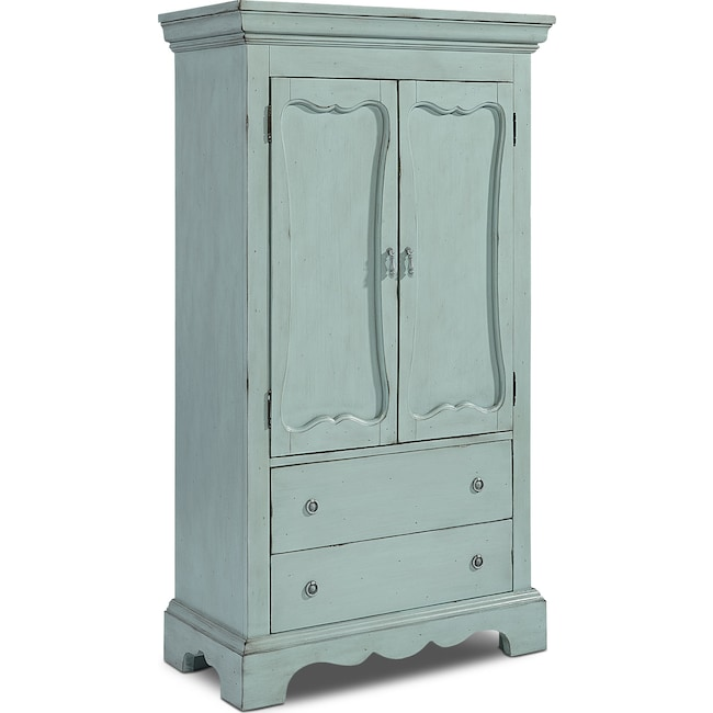 Bedroom Furniture - Cameo Armoire - French Blue