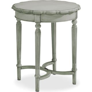 Pie Crust Tall Table - Dove Grey