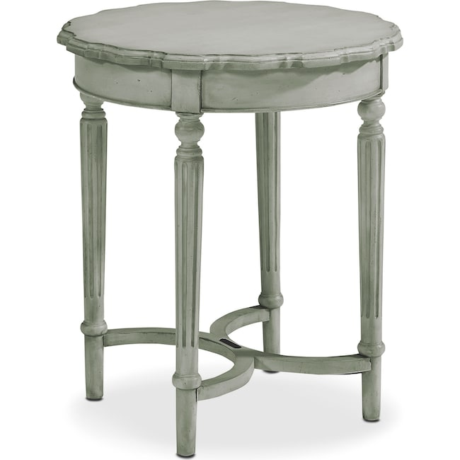 Accent and Occasional Furniture - Pie Crust Tall Table - Dove Grey