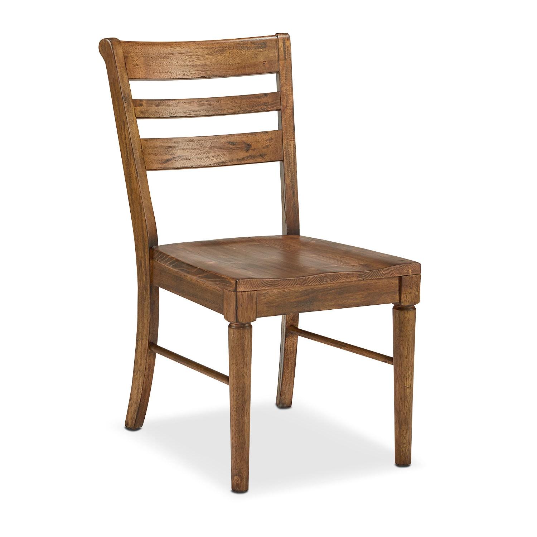 Dining Room Furniture - Set of 2 Kempton Slat Back Chairs - Bench