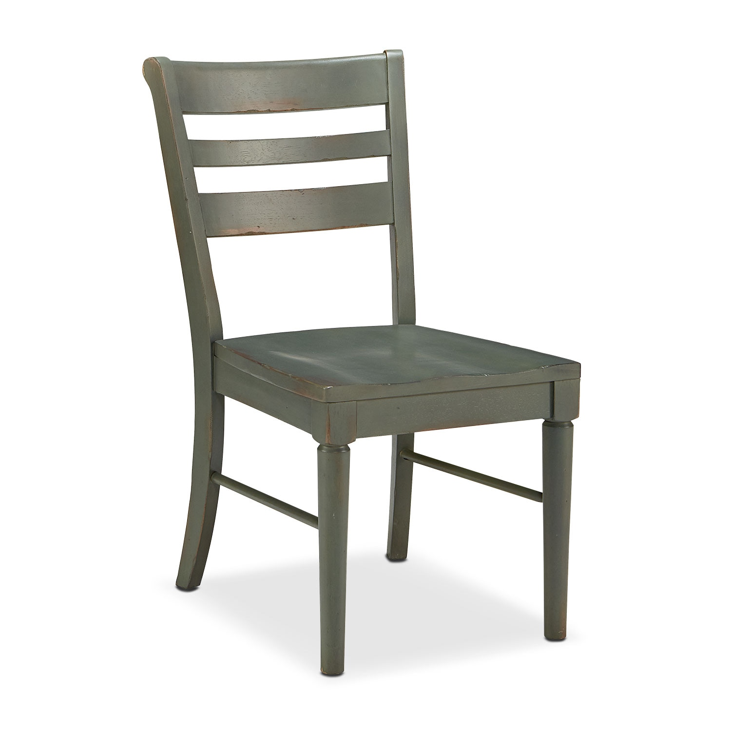 Set of 2 Kempton Slat Back Chairs - Patina