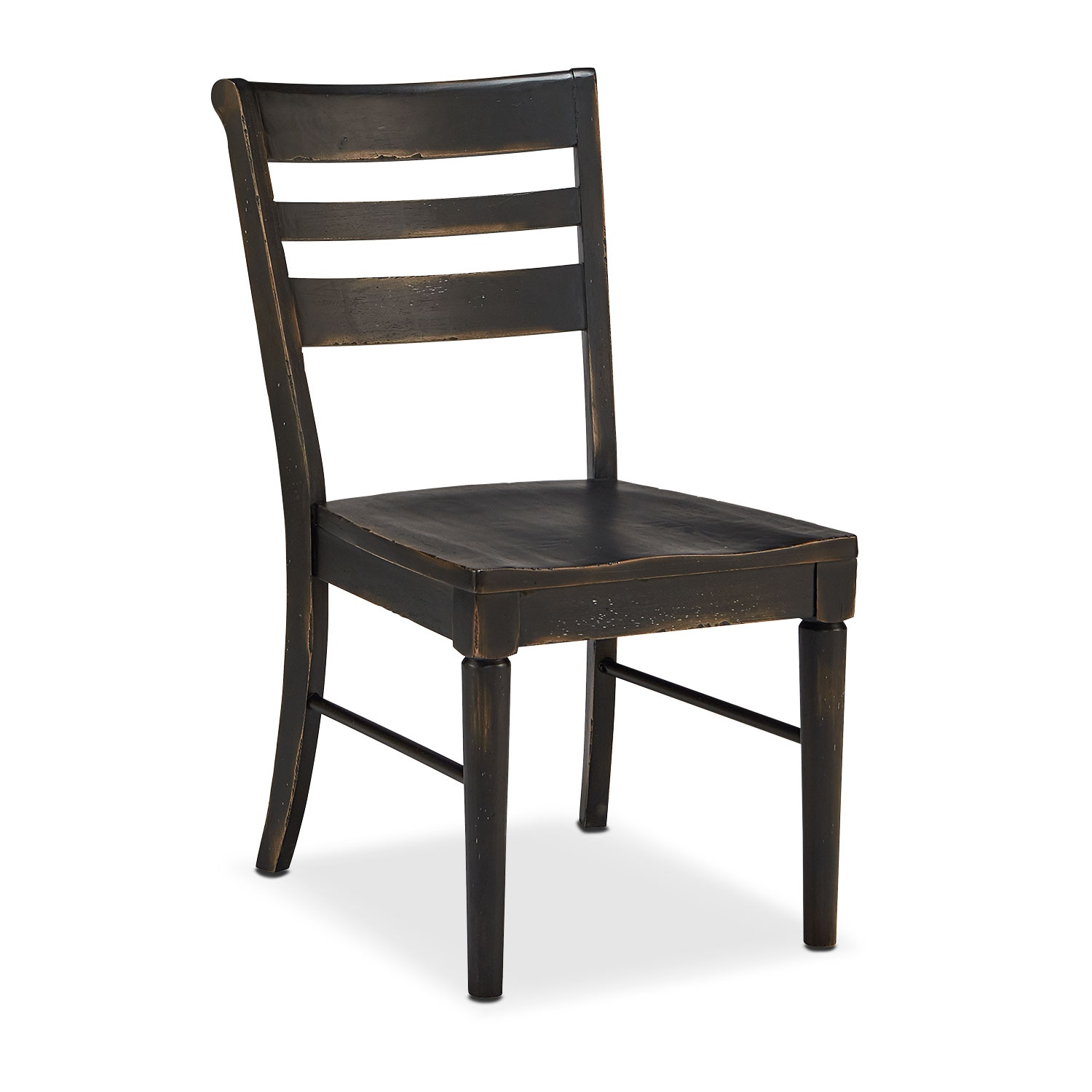 Set of 2 Kempton Slat Back Chairs - Chimney