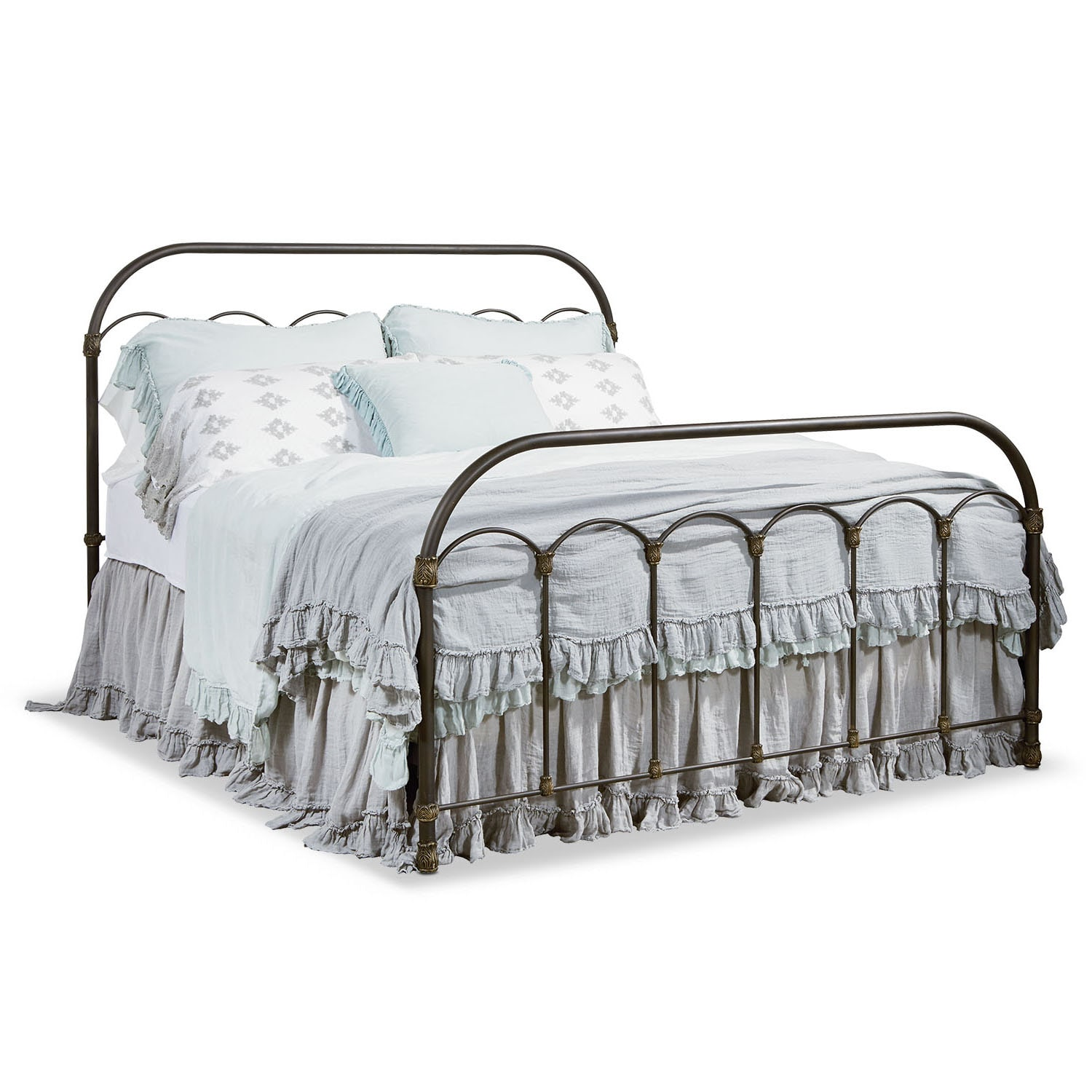 Colonnade Metal Queen Bed - Blackened Bronze