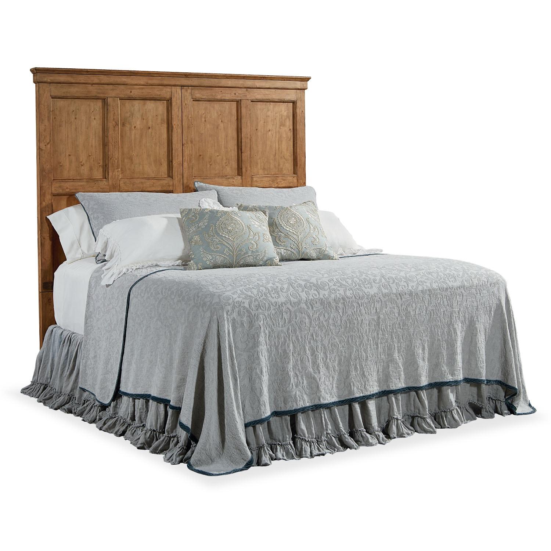 Bedroom Furniture - Primitive Door Panel Queen Headboard - Bench