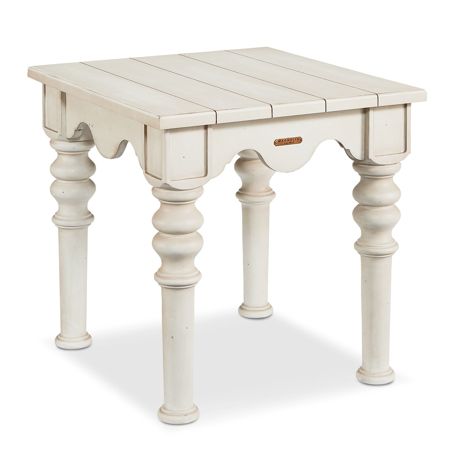 Scallop Side Table - Antique White