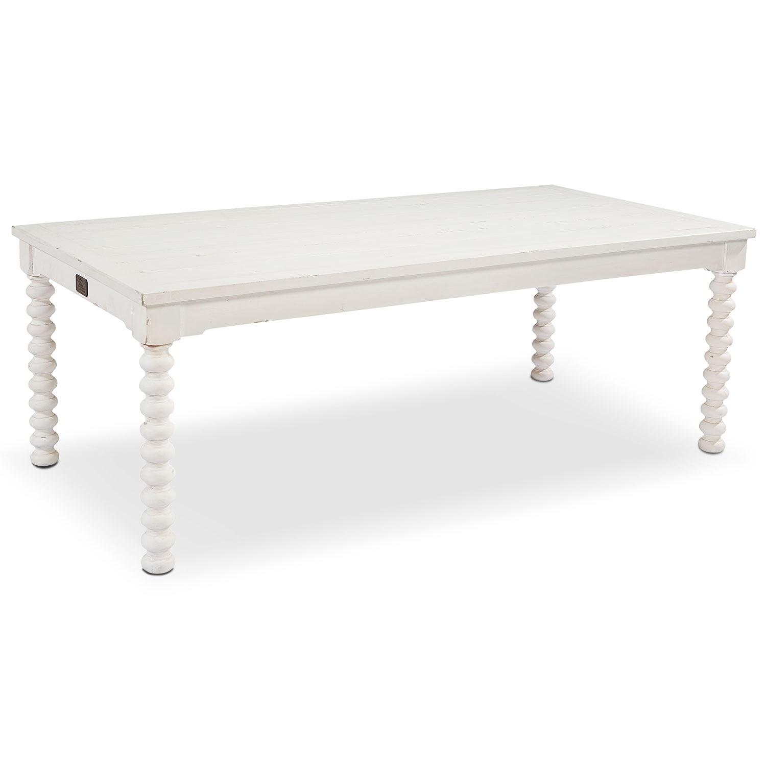 6' Spool Leg Dining Table - White