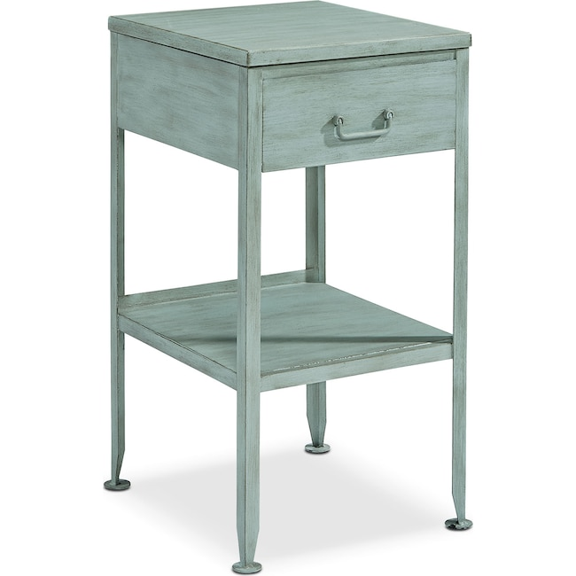 Accent and Occasional Furniture - Metal Utility Side Table - French Blue