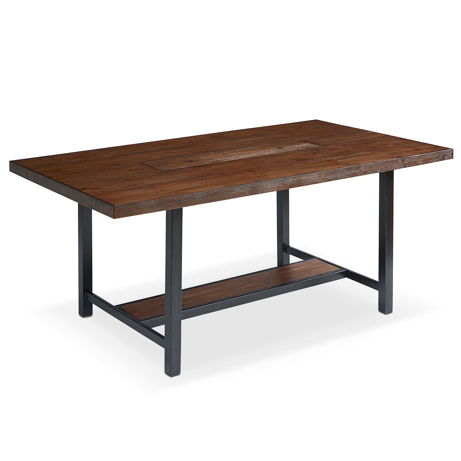 "Industrial Framework 72"" Dining Table - Milk Crate"