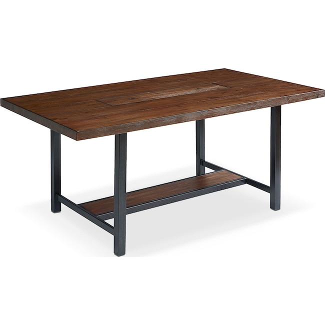 "Dining Room Furniture - Industrial Framework 72"" Dining Table - Milk Crate"