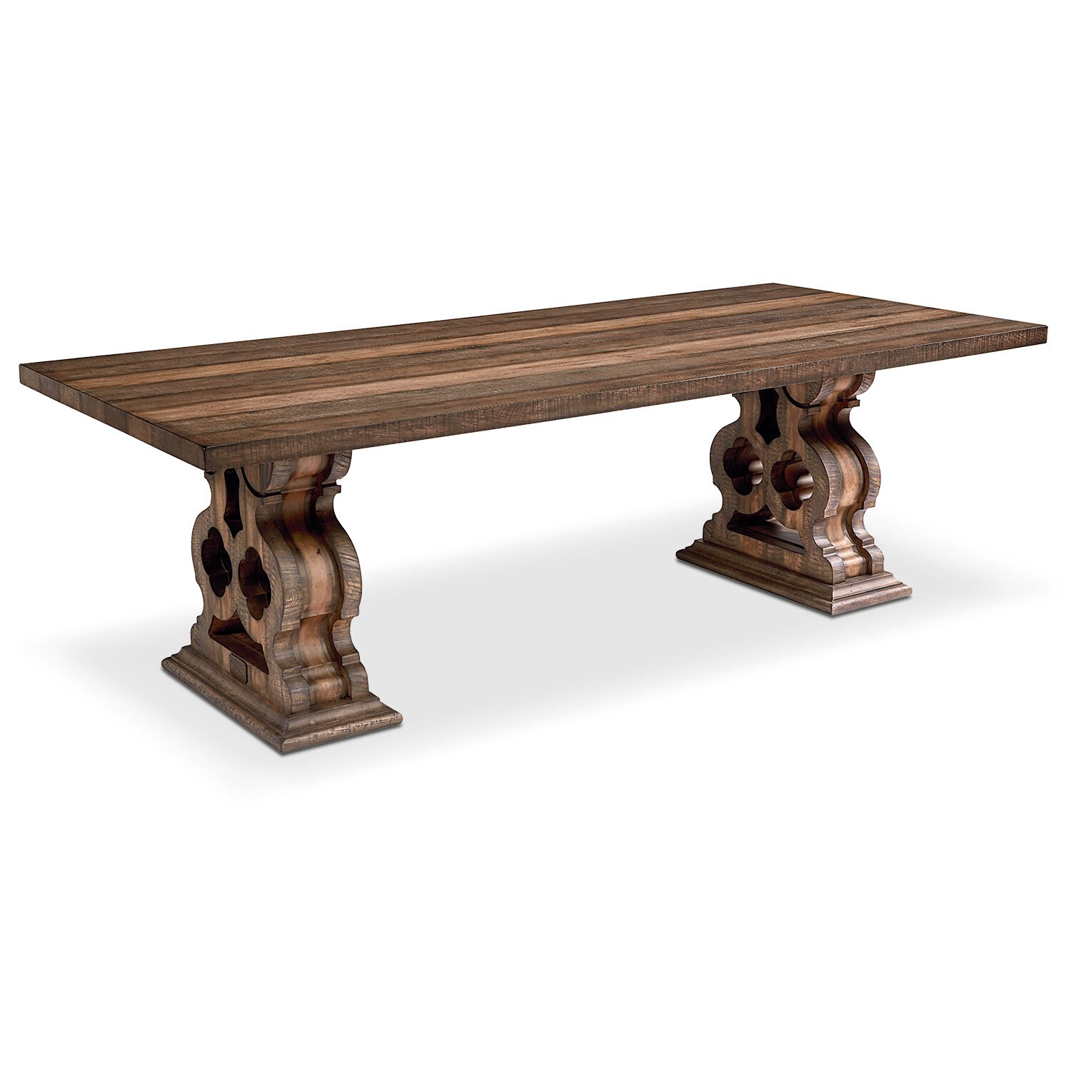 Dining Room Furniture - Double Pedestal Dining Table - Shop Floor