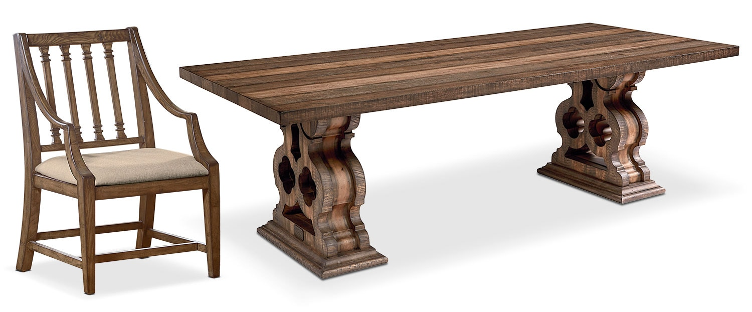 The Traditional Double Pedestal Dining Collection