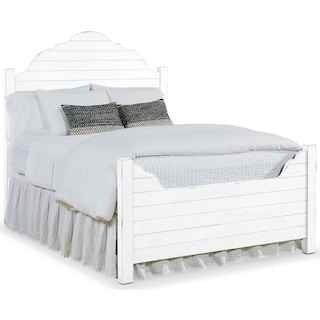 Queen Shiplap Bed - White