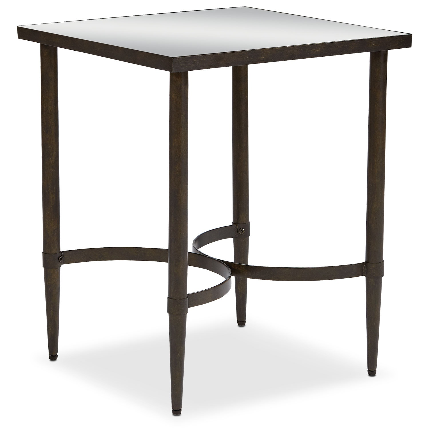 Mercury End Table - Blackened Bronze