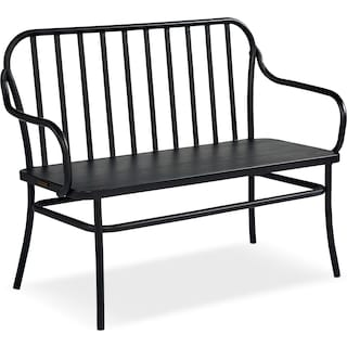 Park Bench - Blackened Bronze