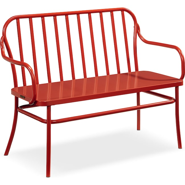 Accent and Occasional Furniture - Park Bench - Coral