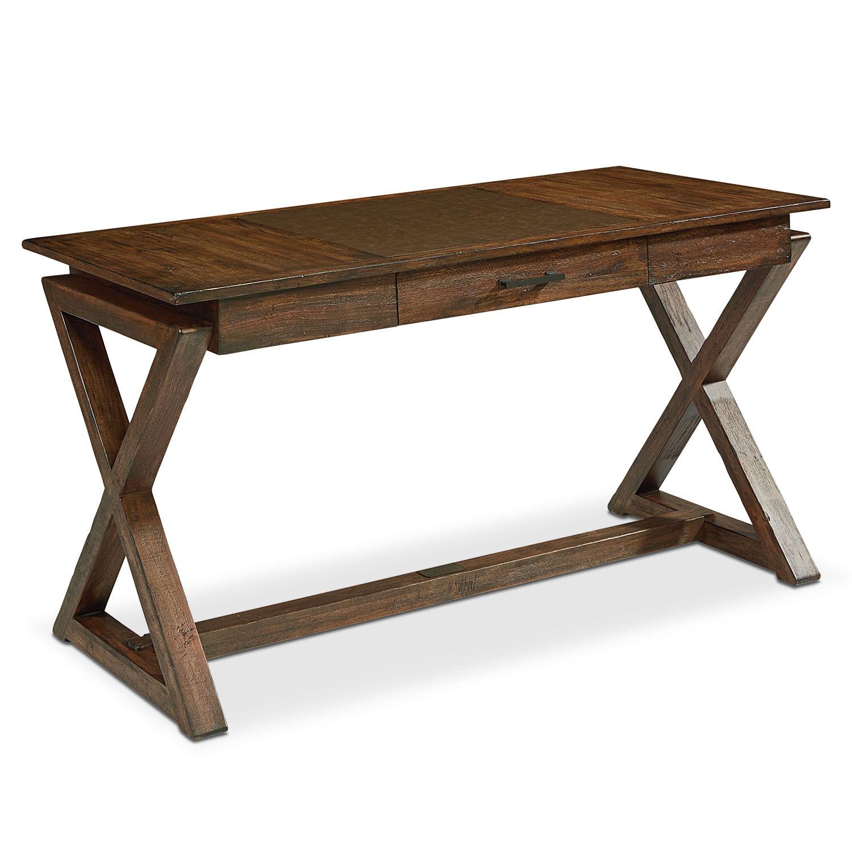Home Office Furniture - Sawbuck Desk - Barn Door