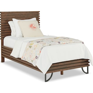 Full Stacked Slat Bed