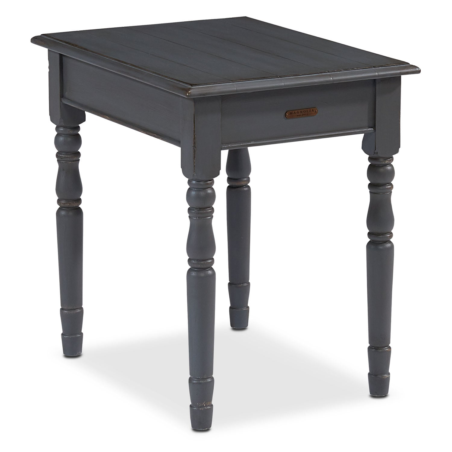 Bedroom Furniture - Taper Turned End Table - French Grey