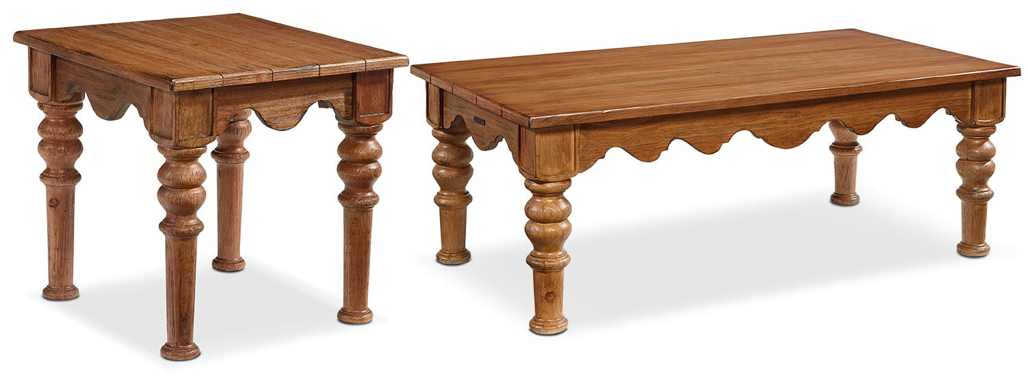 The Farmhouse Scallop Table Collection - Bench