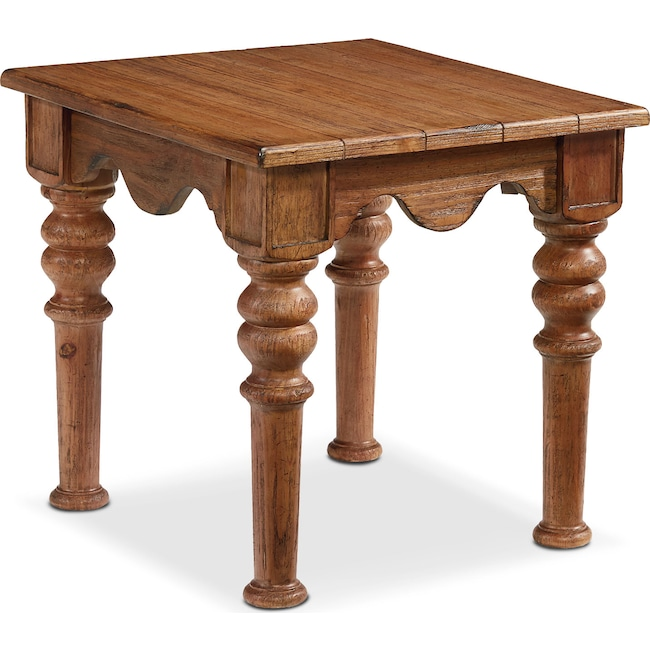 Accent and Occasional Furniture - Scallop Side Table - Bench