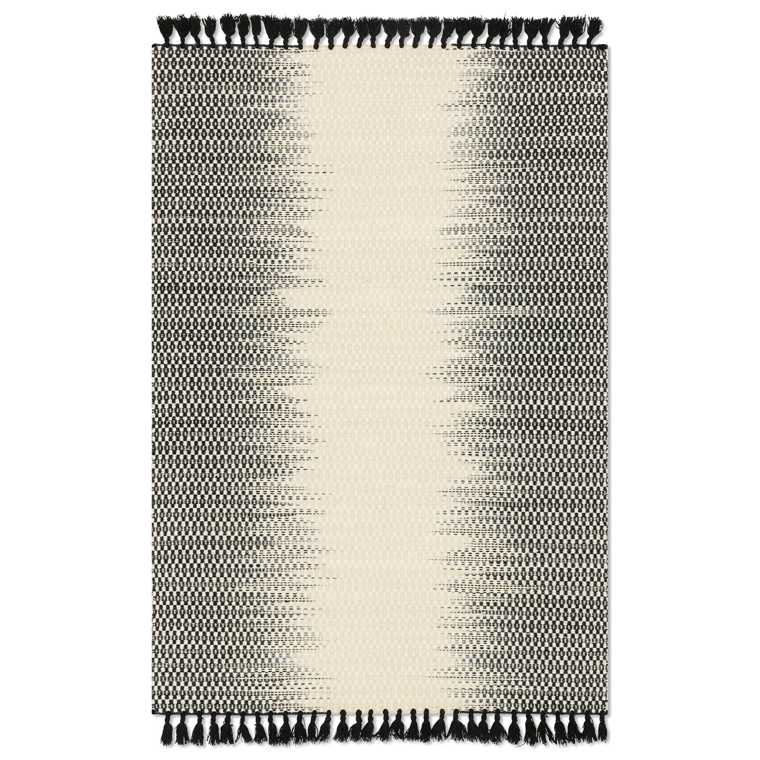Rugs - Chantilly 9' x 13' Rug - Ivory and Black